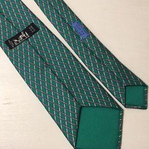 Hermès Green/blue geometric Necktie